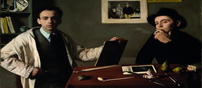 SITO 1_Doppio autoritratto Antonio e Xavier Bueno olio su tela 74x100 1944